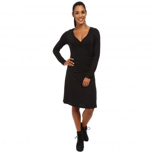 ナディア ロング スリーブ ドレス ワンピース 黒 ブラック レディース 女性用 レディースファッション 【 SLEEVE BLACK PRANA NADIA LONG DRESS 】
