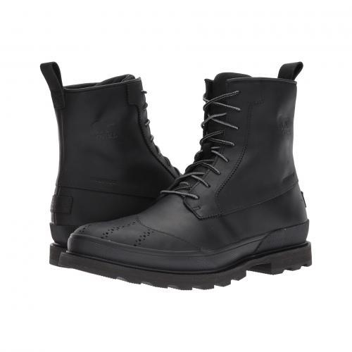 ブーツ ウォータープルーフ 防水 黒 ブラック メンズ 男性用 靴 メンズ靴 【 BLACK SOREL MADSON WINGTIP BOOT WATERPROOF 】