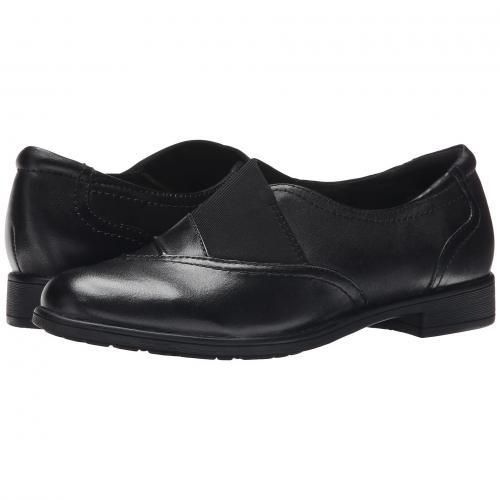 アース 黒 ブラック カーフ レザー レディース 女性用 靴 レディース靴 カジュアルシューズ 【 BLACK EARTH STRATTON CALF LEATHER 】