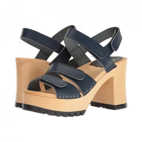 ダーク 青 ブルー レディース 女性用 サンダル レディース靴 靴 【 BLUE SWEDISH HASBEENS VELCRA DARK 】