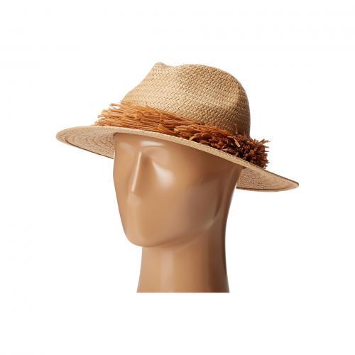 ストロー フリンジ パナマ ナチュラル レディース 女性用 バッグ ブランド雑貨 帽子 小物 レディース帽子 【 BCBGMAXAZRIA STRAW FRINGE PANAMA NATURAL 】