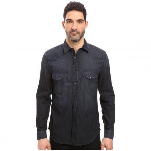 オール マンカインド ウェスタン シャツ 藍色 インディゴ 黒 ブラック メンズ 男性用 メンズファッション トップス カジュアルシャツ 【 BLACK 7 FOR ALL MANKIND WESTERN SHIRT INDIGO 】
