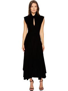 ベルベット キャップ 帽子 スリーブ ドレス ワンピース 黒 ブラック レディース 女性用 レディースファッション 【 SLEEVE BLACK NEIL BARRETT VELVET CAP DRESS 】
