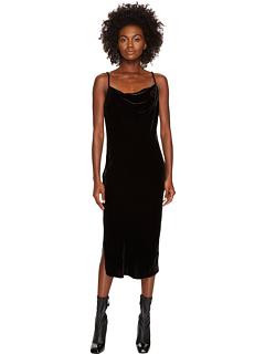ミディ キャミソール ソフト ベルベット ドレス ワンピース 黒 ブラック レディース 女性用 レディースファッション 【 BLACK MCQ MIDI CAMISOLE SOFT VELVET DRESS DARKEST 】