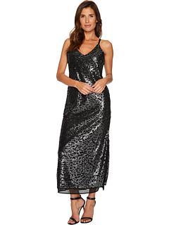 ストラップ ドレス ワンピース メタリック NIC+ZOE レディース 女性用 レディースファッション 【 SEQUIN STRAPPY DRESS METALLIC 】