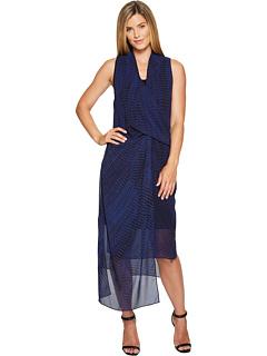 青 ブルー ドレス ワンピース ローマ NIC+ZOE レディース 女性用 レディースファッション 【 BLUE STREAKS DRESS ROMA 】