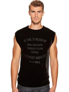 ベルベット イン ストリーム タンクトップ トップ 黒 ブラック メンズ 男性用 トップス メンズファッション 【 BLACK MCQ VELVET IN THE STREAM TANK TOP DARKEST 】