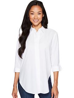 ワイド プラケット シャツ オプティック 白 ホワイト レディース 女性用 トップス カットソー Tシャツ レディースファッション 【 NYDJ WIDE PLACKET SHIRT OPTIC WHITE 】