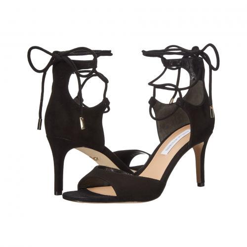 フォン 黒 ブラック キッド スエード スウェード レディース 女性用 靴 レディース靴 サンダル 【 BLACK DIANE VON FURSTENBERG RIMINI KID SUEDE 】