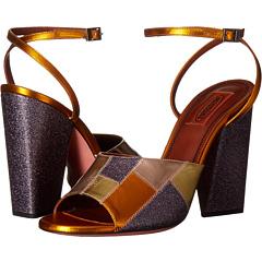 パッチワーク グリッター サンダル ピンク レディース 女性用 靴 レディース靴 【 PINK MISSONI PATCHWORK GLITTER SANDAL 】