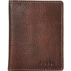 フォッシル リンカーン カード ケース 茶 ブラウン メンズ 男性用 財布 ブランド雑貨 バッグ クレジットカードケース 小物 【 FOSSIL LINCOLN CARD CASE BIFOLD BROWN 】