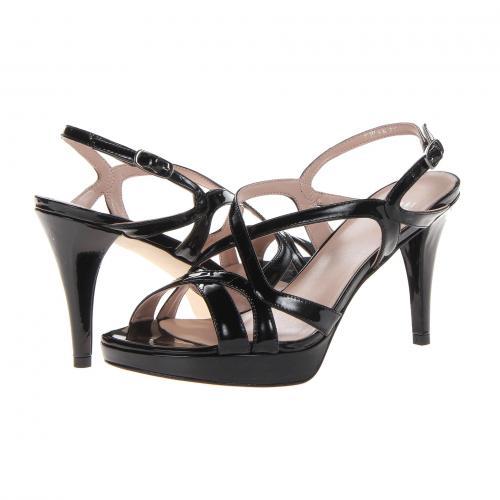 黒 ブラック パテント レディース 女性用 レディース靴 サンダル 靴 【 BLACK STUART WEITZMAN AXIS PATENT 】