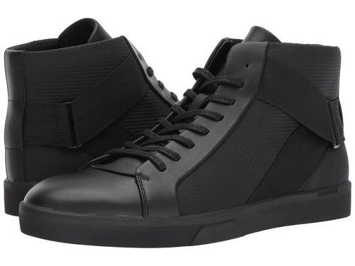 カルバン クライン 黒 ブラック ブラッシュ メンズ 男性用 靴 メンズ靴 スニーカー 【 BLACK CALVIN KLEIN IRVIN BRUSHED LEATHER TAMMY 】