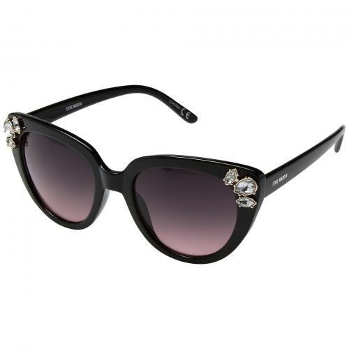 スティーブ スティーブマッデン 黒 ブラック レディース 女性用 眼鏡 サングラス 小物 バッグ ブランド雑貨 【 BLACK STEVE MADDEN SM889104 】