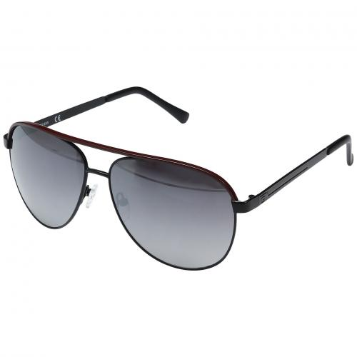 ゲス ミラー レンズ レディース 女性用 バッグ ブランド雑貨 サングラス 小物 眼鏡 【 GUESS GF0172 BLACK RED LINE SMOKE MIRROR LENS 】
