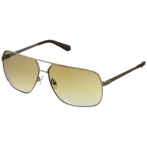 ゲス ミラー メンズ 男性用 眼鏡 ブランド雑貨 サングラス バッグ 小物 【 GUESS GU6840 GOLD BROWN MIRROR 】