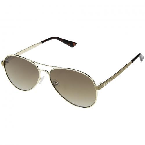 ゲス ミラー レディース 女性用 小物 サングラス バッグ 眼鏡 ブランド雑貨 【 GUESS GU7501 GOLD BROWN MIRROR 】