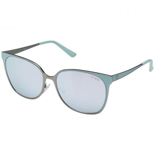 ゲス マット ミラー レディース 女性用 眼鏡 ブランド雑貨 バッグ 小物 サングラス 【 GUESS GU7458 MATTE GUNMETAL SMOKE MIRROR 】