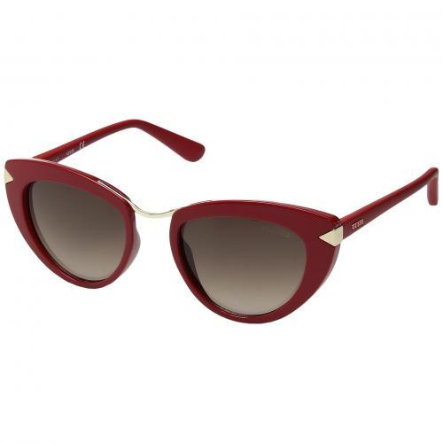 ゲス シャイニー 茶 ブラウン レディース 女性用 バッグ 小物 ブランド雑貨 サングラス 眼鏡 【 GUESS GU7498 SHINY RED GRADIENT BROWN 】