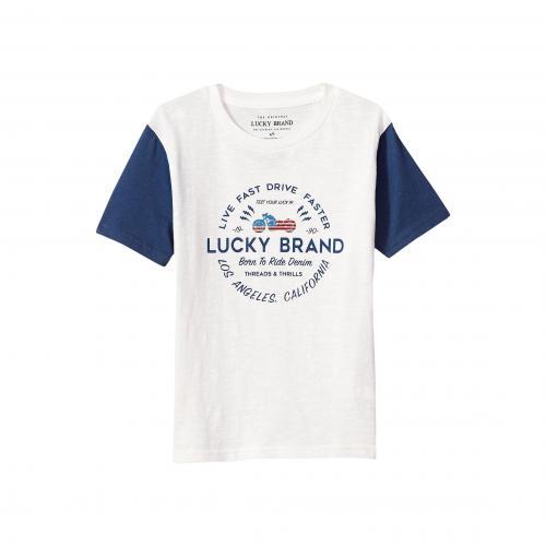 ラッキー ブランド ショーツ ハーフパンツ スリーブ グラフィック Tシャツ 白 ホワイト クラウド 子供用 ビッグキッズ カットソー マタニティ ベビー キッズ トップス 【 SLEEVE LUCKY BRAND KIDS SH