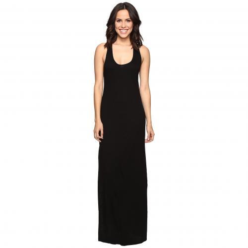 クロス バック マキシ ドレス ワンピース 黒 ブラック レディース 女性用 レディースファッション 【 BLACK LANSTON CROSS BACK MAXI DRESS 】