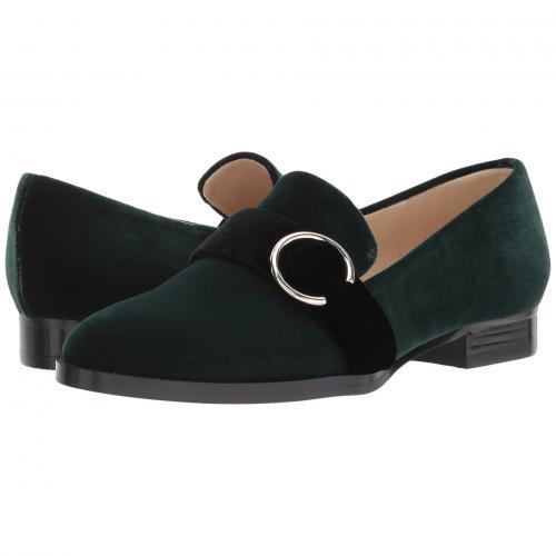 ナイン ウェスト ファブリック レディース 女性用 レディース靴 カジュアルシューズ 靴 【 NINE WEST HUFF GREEN BLACK FABRIC 】