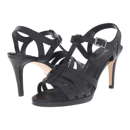 タイタン 黒 ブラック バックル レディース 女性用 靴 レディース靴 ミュール 【 BLACK VANELI TITAN NAPPA GUNMETAL BUCKLE 】