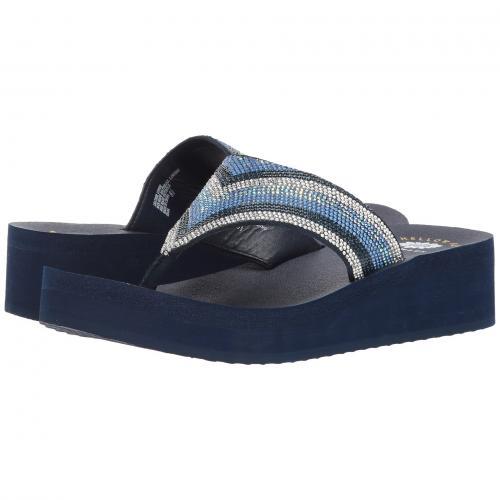 黄色 イエロー ボックス 青 ブルー マルチ レディース 女性用 靴 サンダル レディース靴 【 YELLOW BLUE BOX GIANA MULTI 】