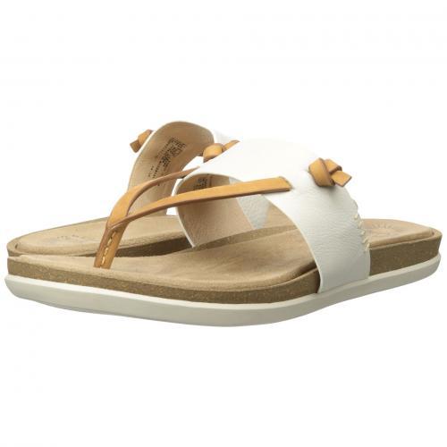コー 白 ホワイト ソフト ナッパ G.H. & CO. レディース 女性用 レディース靴 サンダル 靴 【 BASS SHANNON WHITE SOFT NAPPA 】