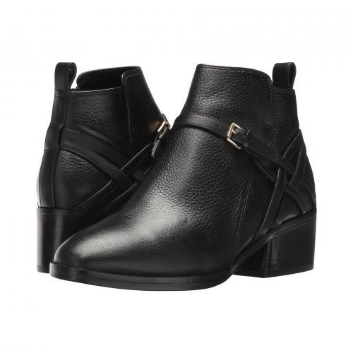 コール 黒 ブラック レザー レディース 女性用 靴 ブーティ レディース靴 【 BLACK COLE HAAN PEARLIE BOOTIE LEATHER 】