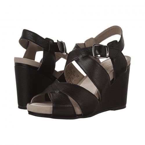 黒 ブラック レザー レディース 女性用 レディース靴 ミュール 靴 【 BLACK HUSH PUPPIES FINTAN MONTIE LEATHER 】