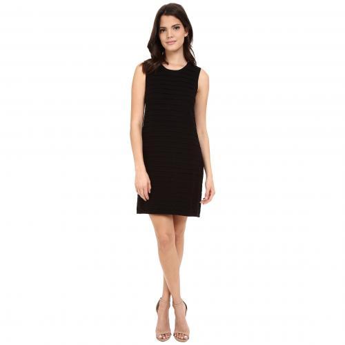 スカラップ シフト ドレス ワンピース 黒 ブラック オニキス NIC+ZOE レディース 女性用 レディースファッション 【 BLACK SCALLOPED SHIFT DRESS ONYX 】