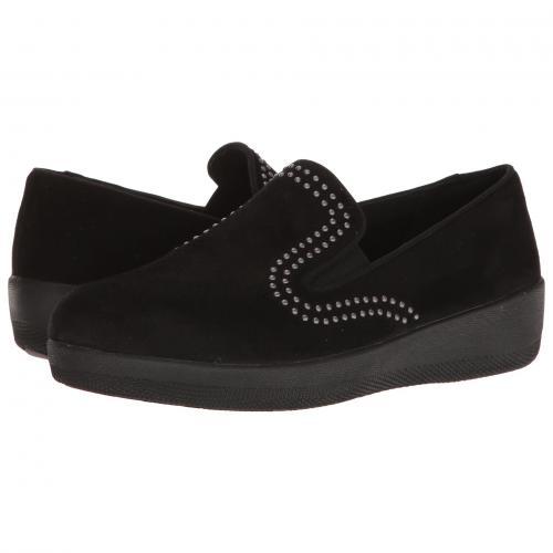 スタッド 黒 ブラック レディース 女性用 靴 カジュアルシューズ レディース靴 【 BLACK FITFLOP SUPERSKATE W STUDS 】