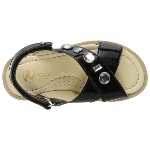 c5193e28eef28 黒 ブラック 子供用 サンダル ベビー マタニティ キッズ 靴   BLACK NATURINO 5034 SS17 TODDLER   ビッグキッズ -サンダル