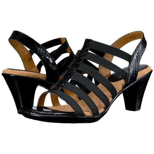 黒 ブラック スネーク プリント レディース 女性用 靴 レディース靴 ミュール 【 BLACK COMFORTIVA NAPLES SOFTSPOTS SNAKE PRINT 】