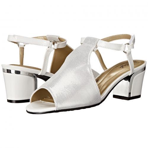 ソフト スタイル 白 ホワイト スパークル ヒール レディース 女性用 レディース靴 靴 ミュール 【 SOFT STYLE DALYNE WHITE SPARKLE SHINE SILVER HEEL 】