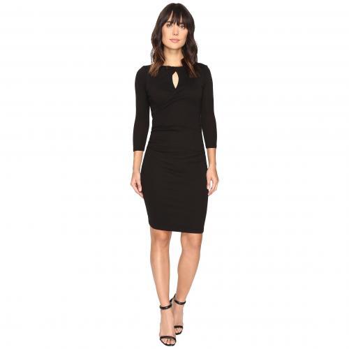 マイケル スター シャイン ツイスト キーホール ドレス ワンピース 黒 ブラック レディース 女性用 レディースファッション 【 BLACK MICHAEL STARS SHINE TWISTED KEYHOLE DRESS 】