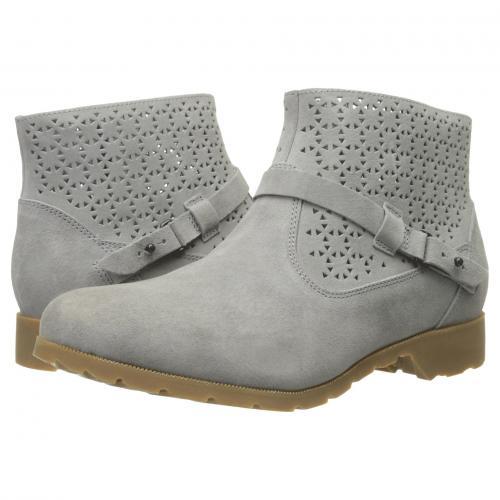 テバ アンクル GRAY灰色 グレイ レディース 女性用 靴 レディース靴 ブーツ 【 TEVA GREY DELAVINA ANKLE PERF 】