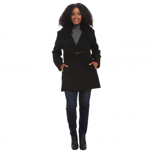 ジェシカ シンプソン プラス サイズ ウール ダッフルバッグ コート 黒 ブラック レディース 女性用 ジャケット アウター レディースファッション 【 BLACK JESSICA SIMPSON PLUS SIZE BRAIDED WOOL DUFFLE CO