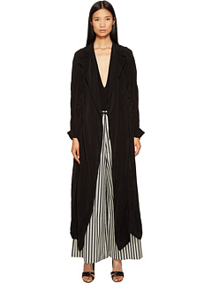 トランスペアレント コート 黒 ブラック レディース 女性用 レディースファッション ジャケット アウター 【 BLACK MCQ TRANSPARENT COAT 】