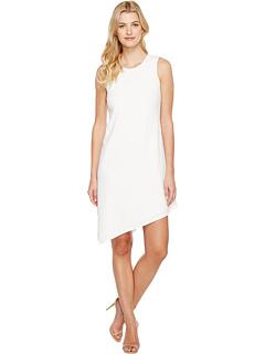 カルバン クライン エーライン ドレス ワンピース ヘム 白 ホワイト レディース 女性用 レディースファッション 【 CALVIN KLEIN ALINE DRESS WITH ASYMMETRICAL HEM WHITE 】