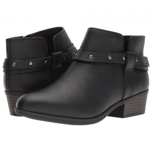 クラークス 黒 ブラック レザー レディース 女性用 ブーツ 靴 レディース靴 【 BLACK CLARKS ADDIY ZOIE LEATHER 】