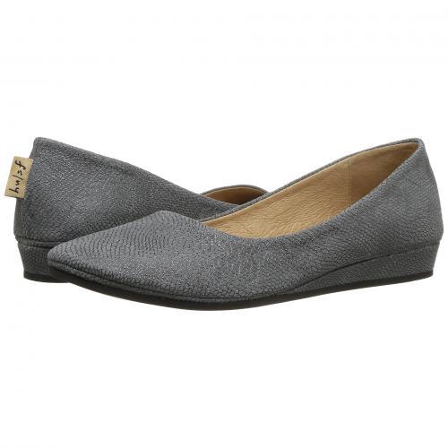 フレンチ ソール フラット GRAY灰色 グレイ フォイル プリント レディース 女性用 レディース靴 カジュアルシューズ 靴 【 GREY FRENCH SOLE ZEPPA FLAT FOIL PRINT 】