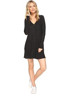 ロング スリーブ ポケット ドレス ワンピース 黒 ブラック レディース 女性用 レディースファッション 【 SLEEVE BLACK LANSTON LONG POCKET DRESS 】