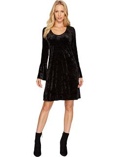 カレン ベルベット ベル スリーブ ドレス ワンピース 黒 ブラック レディース 女性用 レディースファッション 【 SLEEVE BLACK KAREN KANE VELVET BELL DRESS 】