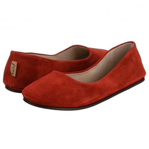 フレンチ ソール フラット 赤 レッド スエード スウェード レディース 女性用 カジュアルシューズ レディース靴 靴 【 FRENCH SOLE SLOOP FLAT RED SUEDE 】