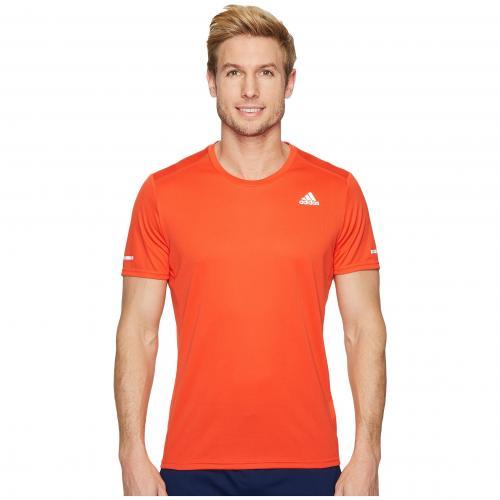 アディダス ラン Tシャツ 赤 レッド メンズ 男性用 メンズファッション カットソー トップス 【 ADIDAS RUN TEE HIRES RED 】