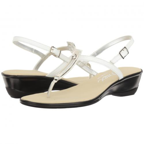 バレンシア レディース 女性用 レディース靴 ミュール 靴 【 ONEX VALENCIA WHITE SILVER 】