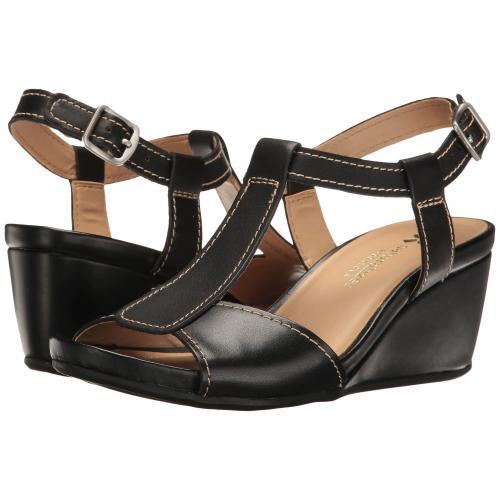 黒 ブラック レザー レディース 女性用 ミュール レディース靴 靴 【 BLACK NATURALIZER CAMILLA LEATHER 】
