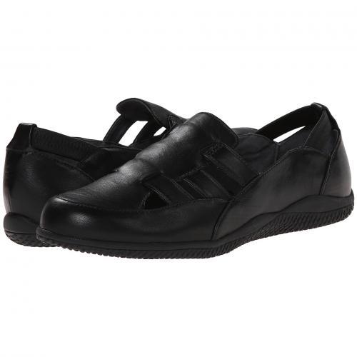 ハンプトン 黒 ブラック ソフト キッド レザー レディース 女性用 カジュアルシューズ 靴 レディース靴 【 BLACK SOFTWALK HAMPTON SOFT KID LEATHER 】